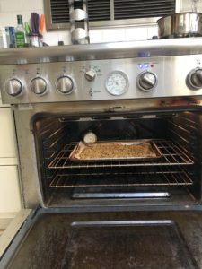 Granola in Oven