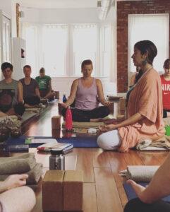 yoga class teacher